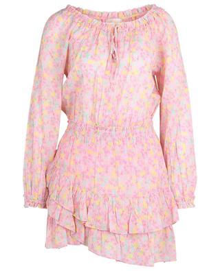 Mini robe en coton Rayna Melon Punch LOVESHACKFANCY
