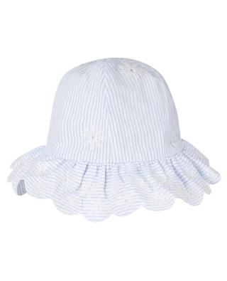 Striped baby bucket hat with floral embroideries TARTINE ET CHOCOLAT