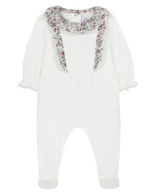 Pyjama bébé en jersey détails Liberty TARTINE ET CHOCOLAT