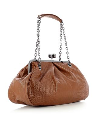Pasticcino Baba Large croc embossed leather shoulder bag WEEKEND MAX MARA