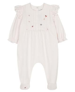 Pyjama bébé brodé de papillons et coccinelles TARTINE ET CHOCOLAT