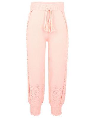 Pantalon de jogging en maille ajourée Nyla Jogger LOVESHACKFANCY