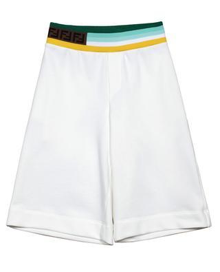 Detail FF boys' fleece shorts FENDI