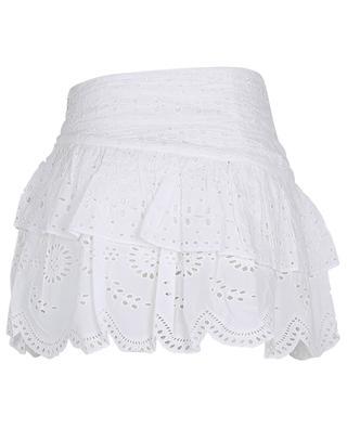 Minijupe évasée en coton à broderies anglaises Onika LOVESHACKFANCY