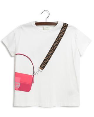 T-shirt fille imprimé sac à main FENDI