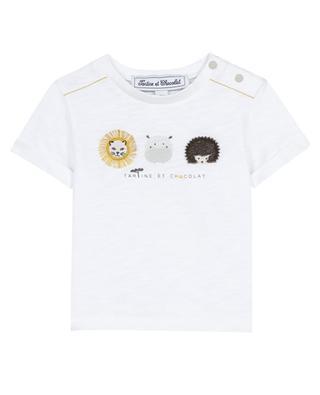 Escale au Serengeti animal print baby T-shirt TARTINE ET CHOCOLAT