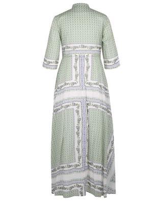 Robe chemise en voile imprimée Garden TORY BURCH