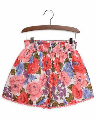 Poppy Frill floral print girls' shorts ZIMMERMANN
