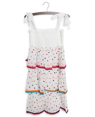 Poppy girls' shirred tiered dress ZIMMERMANN