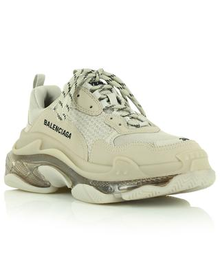 Triple S Clear Sole mesh and faux leather sneakers BALENCIAGA