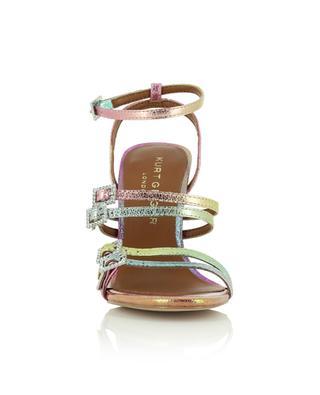 Pierra 100 heeled iridescent metallic leather sandals KURT GEIGER LONDON