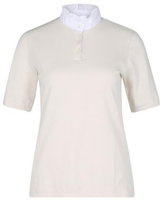 Short-sleeved ruffle collar polo shirt GRAN SASSO