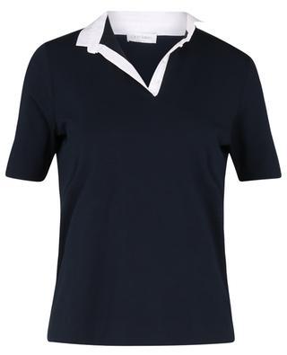 Polo en jersey à col contrasté et boutons cristaux GRAN SASSO