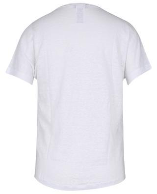 T-shirt manches courtes en lin avec col à paillettes GRAN SASSO