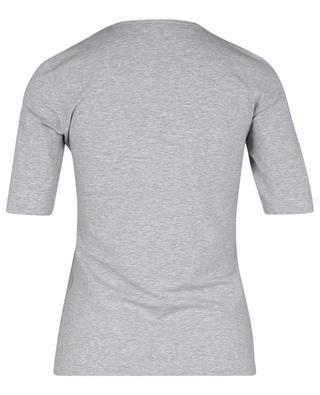 Short-sleeved T-shirt with Lurex trim at neckline GRAN SASSO