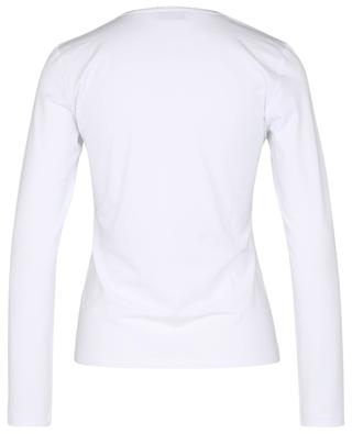 Long-sleeved T-shirt with Lurex trim at neckline GRAN SASSO