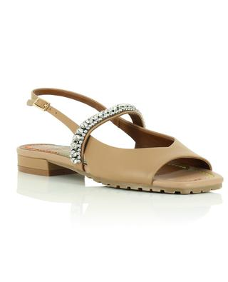 Princely flat crystal embellished nappa leather sandals KURT GEIGER LONDON