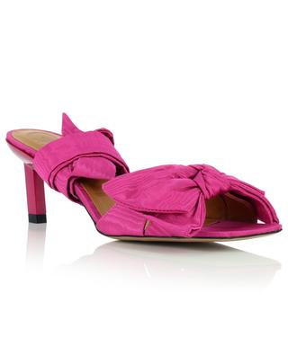 Satin kitten heel lace-up sandals GANNI