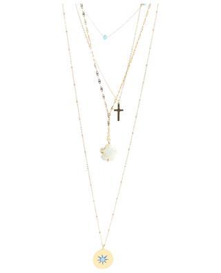 Multi strand necklace with pendants MOON°C PARIS