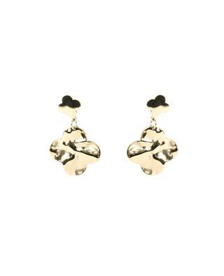 Clous d'oreilles à pendentif fleuri MOON°C PARIS