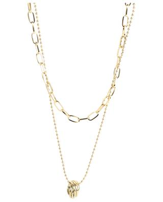 Stainless steel necklace with round pendant MOON°C PARIS