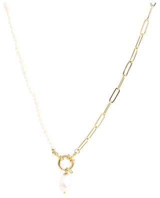Pearl and chainlink necklace MOON°C PARIS