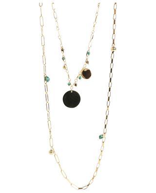Lange Halskette mit Schmucksteinen MOON°C PARIS