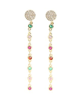 Boucles d'oreilles pendantes à pierres décoratives MOON°C PARIS