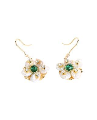 Boucles d'oreilles à pendentif fleuri MOON°C PARIS