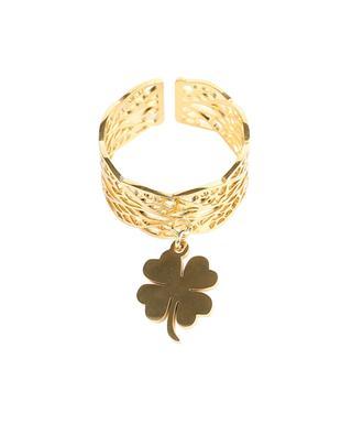 Offener Ring mit Kleeblattanhänger MOON°C PARIS