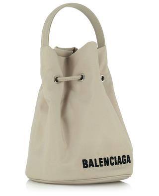 Recycelte Bucket-Tasche aus Nylon Wheel XS Drawstring BALENCIAGA