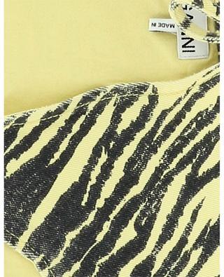 Breiter Kragen aus Denim mit Tiger-Motiv Pale Banana GANNI