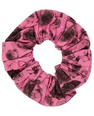 Chouchou imprimé roses Shocking Pink GANNI