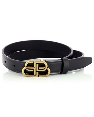 Thin leather belt with BB monogram buckle BALENCIAGA