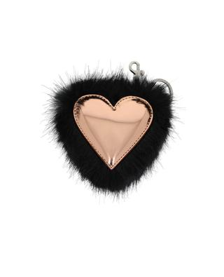 Heart faux-fur keychain STELLA MCCARTNEY