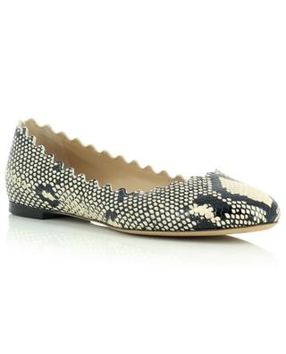 Lauren python effect leather ballet flats CHLOE