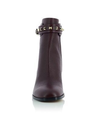 Rockstud 60 block heel leather ankle boots VALENTINO