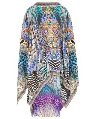 Animal Army loose silk mini dress with shoulder slits CAMILLA