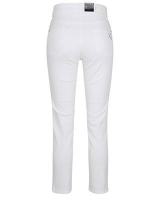 Jean slim blanc orné de cristaux Piper Short CAMBIO