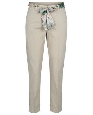 Krystal belted carrot trousers in poplin CAMBIO