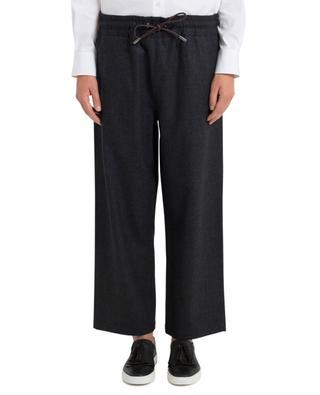 Pantalon large raccourci en laine vierge PIAZZA SEMPIONE