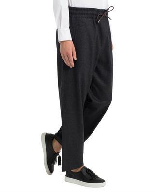 Weite und kurz geschnittene Hose aus Schurwolle PIAZZA SEMPIONE