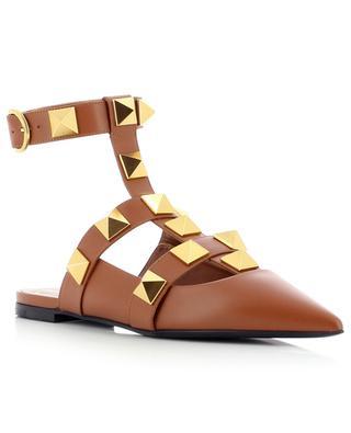 Roman Stud strappy leather ballet flats VALENTINO