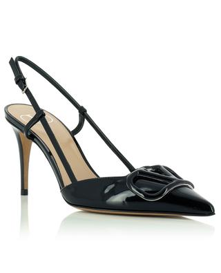 VLogo 80 patent leather sling-back pumps VALENTINO