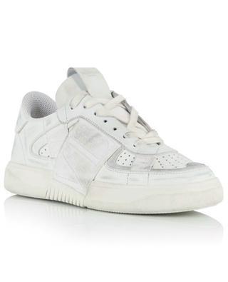 Baskets basses à lacets en cuir blanc vieilli VL7N VALENTINO