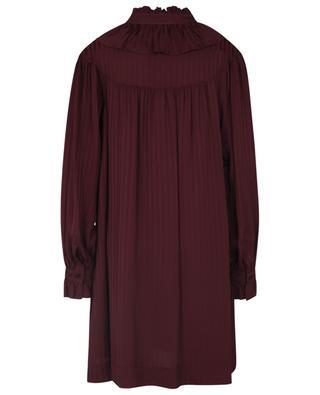 Robe blouse courte en jacquard rayé SEE BY CHLOE