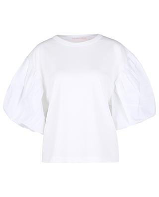 Boxy-T-Shirt aus Jersey mit Popeline-Puffärmeln SEE BY CHLOE
