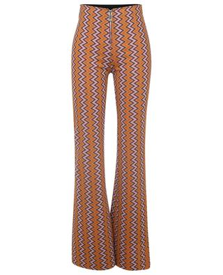 Flared zigzag patterned knit trousers M MISSONI