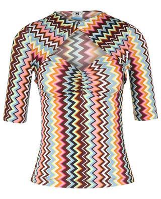 Top manches courtes multicolore à motifs M MISSONI