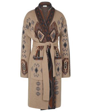 Manteau en maille jacquard motif Ikat avec ceinture ETRO